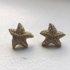 JCrew Gold Starfish Studs
